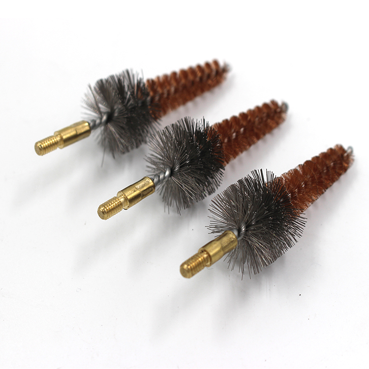 Taper shape coiling circular wire brush